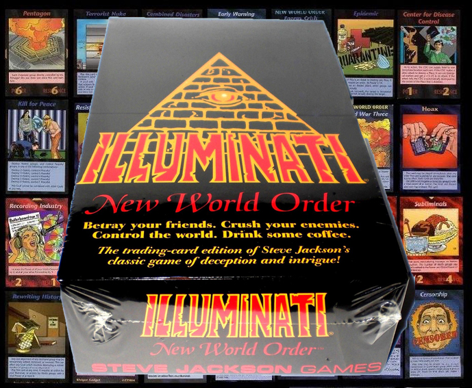 illuminati new world order card game, illuminati card game, new world order, steve jackson, the greatest gift, gift ideas, this is it, i want it all, take my money