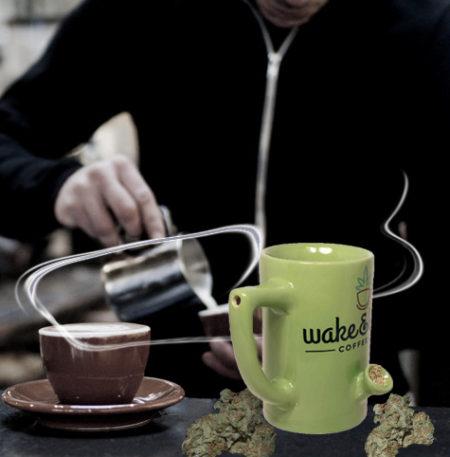 Wake And Bake Coffee Mug Pipe,wake and bake coffee company, wake and bake mug, wake and bake coffee mug, pipe coffee mug, pipe coffee cup